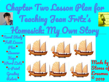 Chapter Two Lesson Plan for Teaching Jean Fritz's Homesick: My Own Story