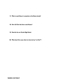 Chapter Two Questions Basketball Junkie By: Chris Herren