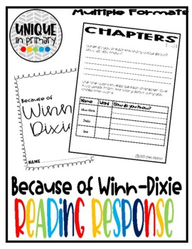 Chapter Worksheets: Because of Winn Dixie