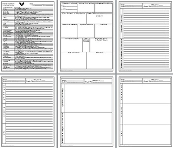 Chapter and Plot Analysis Graphic Organizers for Literature Common Core