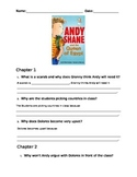 Chapter book study - Andy Shane and the Queen of Egypt