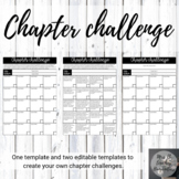English - Chapter challenge to use with any novel