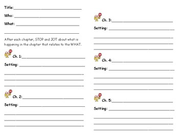 Chapter-end stop sign note sheet