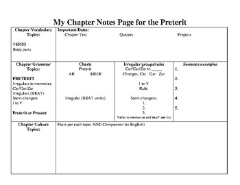 Chapter overview page