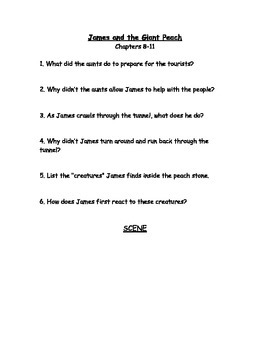 Chapter questions and scene drawings