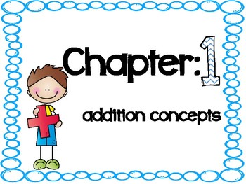 Chapters 1-12 Go Math Vocabulary Cards for 1st Grade Bundle