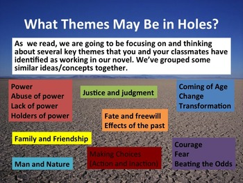Chapters 1-5 Lesson Presentation on Holes by Louis Sachar