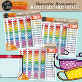 Character Accessories - Masks and Face Shields Clip Art BUNDLE