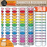Character Accessories - Masks and Face Shields Clip Art {SOLID}