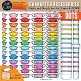 Character Accessories - Masks and Face Shields Clip Art {DOTS}