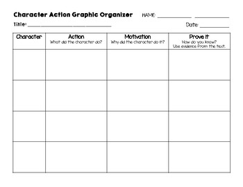 character action graphic organizer by elated in 4th tpt. Black Bedroom Furniture Sets. Home Design Ideas