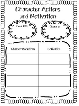 Character Actions and Motivations
