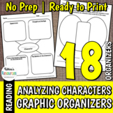 Analyzing Characters Activities - Organizers for Elementar