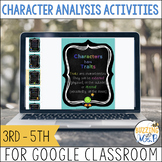 Character Analsyis Activities for use with Google Classroo