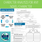 Character Analysis {ANY CHARACTER/ANY NOVEL}