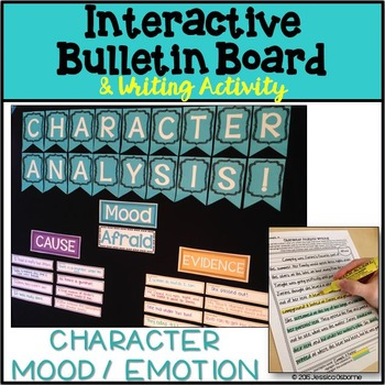 Character Analysis Interactive Bulletin Board with Writing Assignment