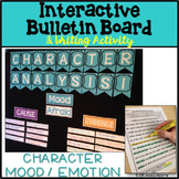 Character Analysis Interactive Bulletin Board with Writing