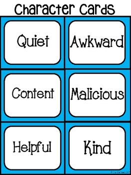Character Analysis Activities - Great for Novel Units and Lit. Circles!