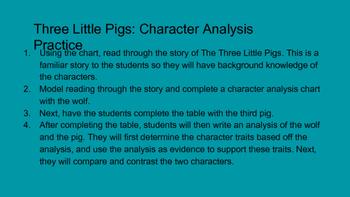 Character Analysis Activity
