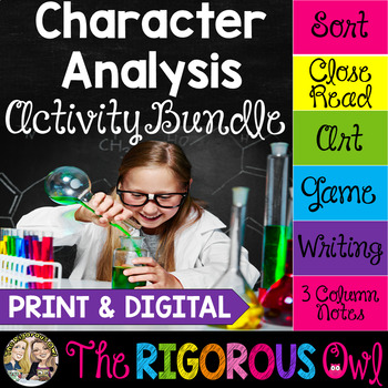 Character Analysis Activity Bundle