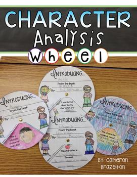 Character Analysis Activity Wheel