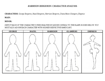 "Character Analysis Activity over ""Harrison Bergeron"""