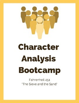 Tracking Character in Fahrenheit 451: Character Analysis Bootcamp