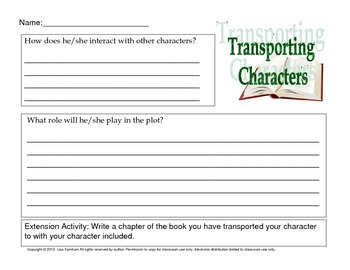 Character Analysis Bundle 20 Activities for Any Book or Story