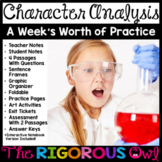 Character Analysis Characterization Week Lesson and Practice
