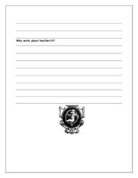 Character Analysis & Character Research Graphic Organizer Worksheets