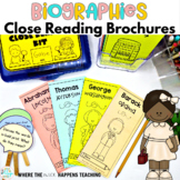 Biographies Close Reading Passages with Questions