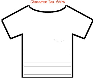 Character Analysis- Design a tee-shirt for Character