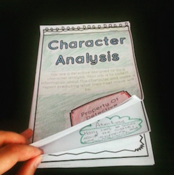 Character Analysis Detective's Notebook