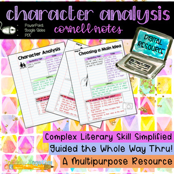 Digital Notebook: Character Analysis