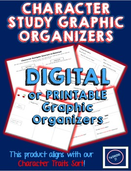 Character Analysis Digital/Printable Graphic Organizers