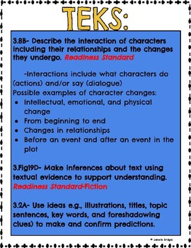 Character Analysis Digital & Printable Versions