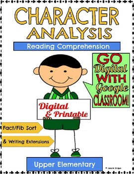 Character Analysis Digital & Printable Versions