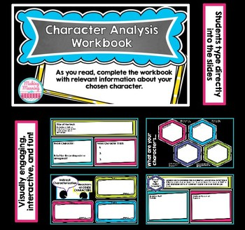Character Analysis - Digital Workbook for Middle and High School