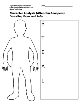 Character Analysis (Draw and Describe)