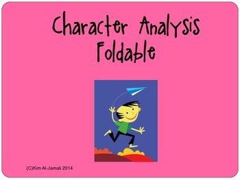 Character Analysis Foldable