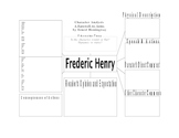 Character Analysis for Studying Frederic Henry from A Farewell to Arms