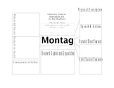 Character Analysis for Studying Montag in Farenheit 451 by Bradbury