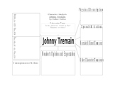 Character Analysis for Studying Studying Johnny Tremain