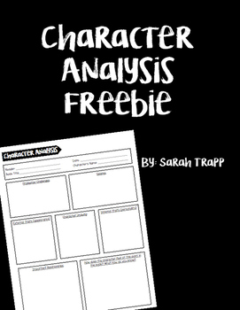 Character Analysis Freebie