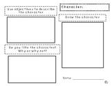 Character Analysis Graphic Organizer (Write and Draw)