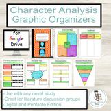 Character Analysis Graphic Organizers, Character Analysis