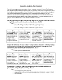 Character Analysis Handout/Rubric (Crossover by Kwame Alexander)