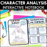 Character Analysis - Reading Interactive Notebook | Distan