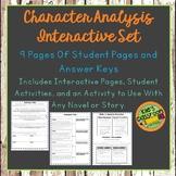 Character Analysis Interactive Notebook Set
