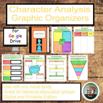Character Analysis Interactive Notebook For Google Drive  Tpt